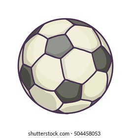 Soccer Ball or football. Vector Illustration Isolated On White Background