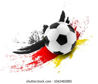 Soccer ball with germany flag colors brush