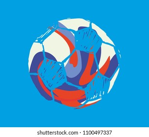 soccer ball graphic design vector art
