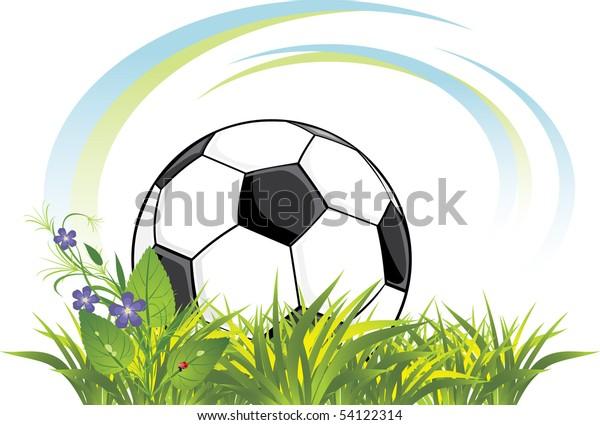 soccer-ball-grass-flowers-vector-600w-54