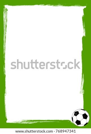 Soccer Ball Grunge Frame Stock Vector (Royalty Free) 768947341 ...
