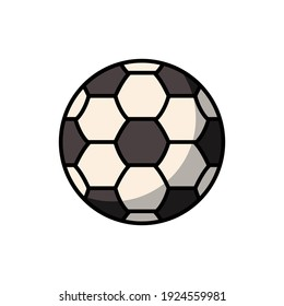 soccer ball icon of color style design vector template