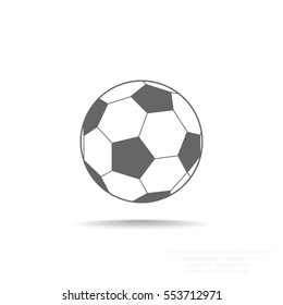 Soccer ball icon flat.