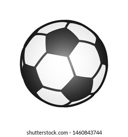 soccer ball icon. illustration isolated on white background.