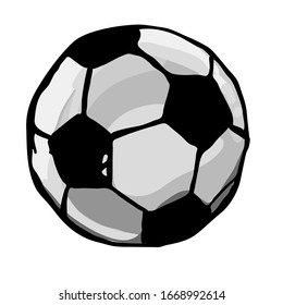 Soccer ball icon isolated on white background. Sports equipment. Vector