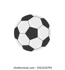 Soccer ball icon isolated on white background. Cartoon football. Sport concept- Vector stock