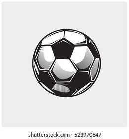 Soccer ball icon. Logo vector illustration.