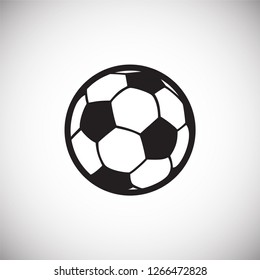 Soccer ball icon on white background for graphic and web design, Modern simple vector sign. Internet concept. Trendy symbol for website design web button or mobile app