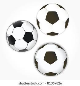 soccer ball icon set. Football vector illustration