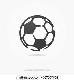 soccer ball icon or sign, vector illustration