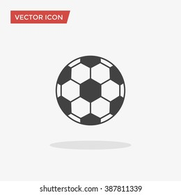 Soccer ball Icon in trendy flat style isolated on grey background. Football symbol for your web design, logo, UI. Vector illustration, EPS10.