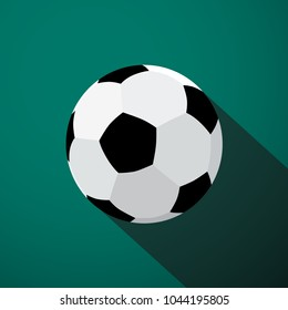 Soccer Ball Icon. Vector Football Game Symbol.