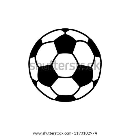 soccer ball icon vector template stock vector royalty free