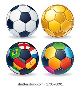 Balls country flag images stock photos vectors shutterstock soccer ball icons classic leather ball golden ball multicolored ball and ball from freerunsca Image collections