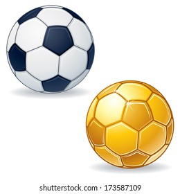 Soccer Ball Icons. Vector Image