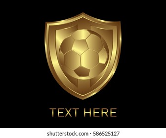 soccer ball inside a shield
