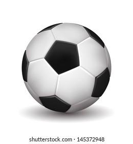 Soccer ball isolated on white background. Vector illustration