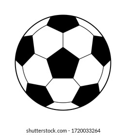 soccer ball isolated on white background, vector stock illustration