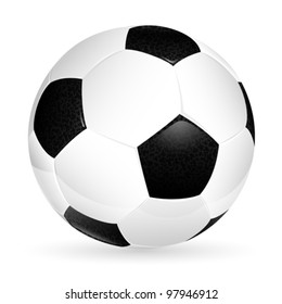 Soccer ball isolated on white, element for design. Isolated vector illustration