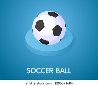 Soccer ball isometric icon. Vector illustration. 3d concept