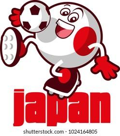 Soccer ball mascot