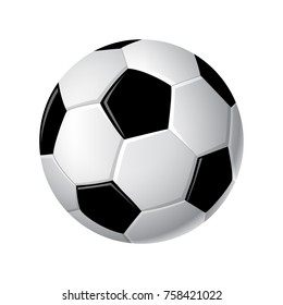 Soccer ball - modern vector realistic isolated clip art