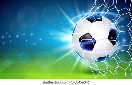 Soccer ball on the field. Cover background. Vector illustration