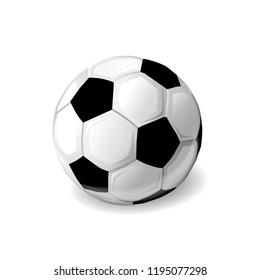 Soccer ball on the white background. Vector illustration.