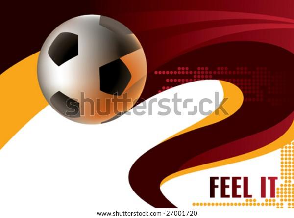 Soccer ball poster. Vector illustration.