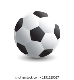 Soccer Ball with shadow on white background EPS 10