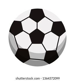 Soccer ball sport cartoon