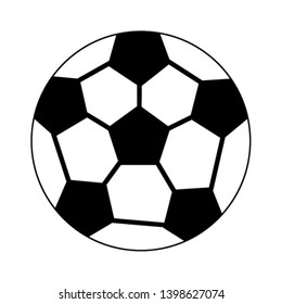 Soccer ball sport cartoon in black and white
