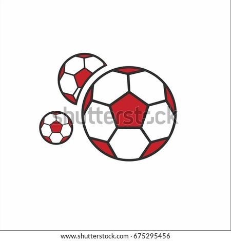 soccer ball template logo stock vector royalty free 675295456