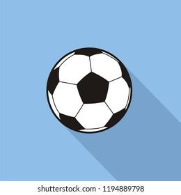 Soccer ball vector flat design