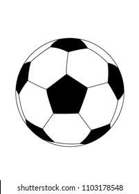 Soccer ball vector, football, sports, game
