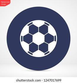 soccer ball vector icon eps 10
