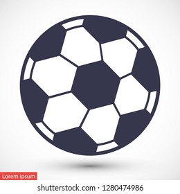 soccer ball vector icon eps 10