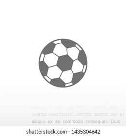 soccer ball vector icon eps 10 , Lorem ipsum Flat design