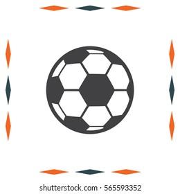 Soccer ball vector icon. Football sign. Ball symbol