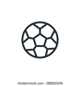 Soccer ball vector icon, sports symbol. Modern, simple flat vector illustration for web site or mobile app