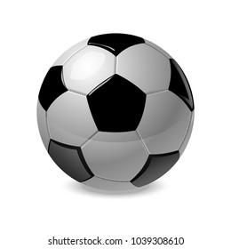 Soccer ball. Vector illustration.