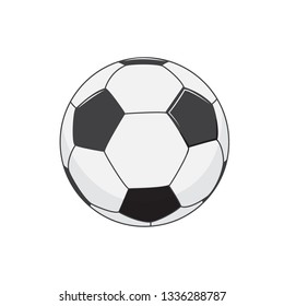 Soccer ball. Vector illustration. Isolated on white background. Flat Cartoon style