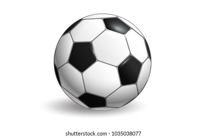 Soccer ball vector layout