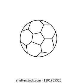 soccer ball,football vector line icon, sign, illustration on background. Outline pictogram on white background