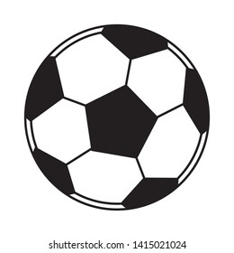 soccer balloon icon cartoon isolated black and white vector illustration graphic design