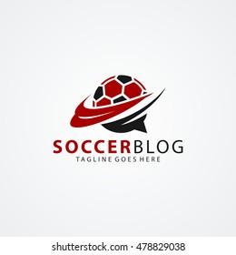 Soccer Blog Logo available in vector/illustration