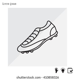 Soccer boots label - vector illustration