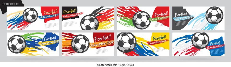 Soccer card design and football vector set.