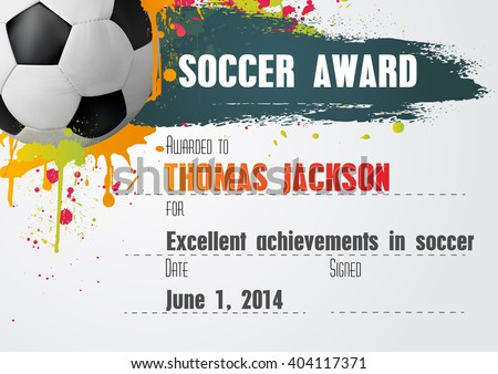 Free soccer certificate templates add printable badges & medals.