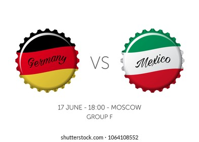 Soccer championship - Germany VS Mexico - 17 June